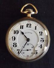 Illinois Watch Co. Springfield USA 21 Jewel Pocket Watch Grade 806