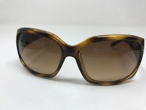 Authentic Anne Klein Sunglasses AKNY 3149 909/63 Glossy Tortoise Wrap  X919