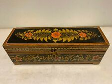 Antique Old Handmade & Beautifully Painted Wooden Unique Jewelry/ trinket Box.