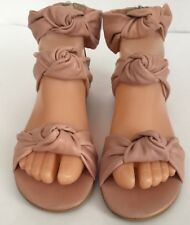 Aqua For Bloomingdales Pink Sandals NWB Size 36 ( US 6 ) Leather Pale Pink