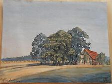 Bauernhaus in WULFEN Dorsten Recklinghausen Aquarell von 1922 monogrammiert