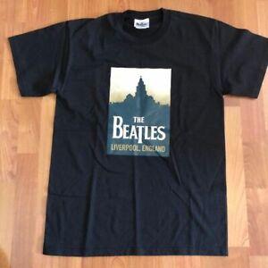 THE BEATLES: Liverpool - T-Shirt - Black - Medium NEW