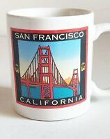 VINTAGE SAN FRANCISCO BAY COFFEE  TEA MUG GOLDEN GATE BRIDGE CUP