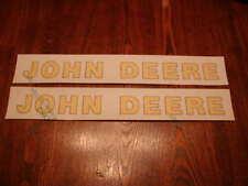 Two Nice John Deere Logo Decals 1-3/8 inch x 14 inch