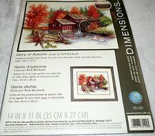"Dimensions Counted Cross Stitch Kit GLORY OF AUTUMN 14"" x 11"""