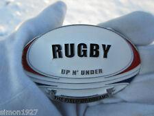 Rugby belt buckle rugger.