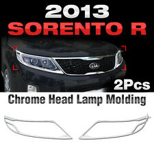 Chrome Head Lamp Garnish Molding Trim C462 For KIA 2013-2014 Sorento R