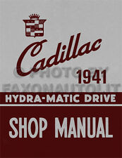 1941 Cadillac Automatic Transmission Shop Manual Hydramatic Trans Repair Service