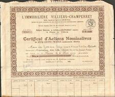 L'IMMOBILIÈRE VILLIERS-CHAMPERRET (V)