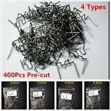 Multi-pack 400Pcs Pre-cut Hot Staples Plastic Welder Staples Car Dent Repair Kit