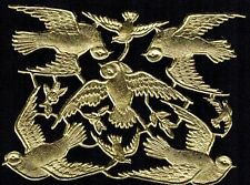 BIRD FLY WING BUTTERFLY SILVER LARGE EMBOSSED BRANCH DRESDEN GERMANY PAPER FOIL