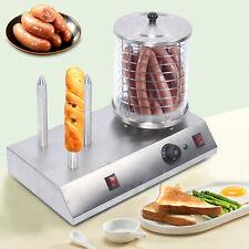 110v Commercial Electric Hot Dog Steamer Bread Maker Food Warmer For Restaurant