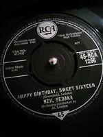 "Neil Sedaka – Happy Birthday, Sweet Sixteen Vinyl 7"" Single UK RCA 1266 1961"