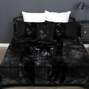 Black Panther Single, King Single   Double Mink Blanket 600gsm Soft Thick & Warm