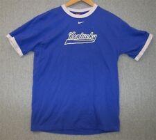 NEW NWOT NIKE TEAM Blue UNIVERSITY of KENTUCKY WILDCATS Ringer T-shirt Sz M
