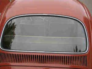 VW Bug Beetle REAR Window Seal 1965-1977 LOOK RUBBER T1 for trim Molding