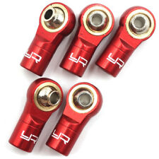 RED Alloy 3mm Rod Ends - REVERSED for 1:10 RC Rock Crawler or Car LEFT HAND