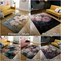 NEW MULTI THICK SOFT QUALITY LARGE LOW PRICE MODERN FLORAL SALE DISCOUNT RUG MAT