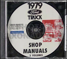 1979 Ford Truck Shop Manual CD F100 F150 F250 F350 Bronco Pickup Ranger Repair