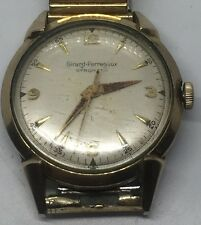 Vintage Men's Girard Perregaux Gyromatic 10k Gold Filled Working Wrist Watch