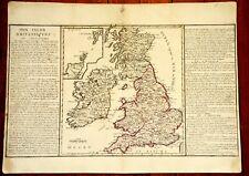 OLD MAP YEAR 1769 ABBE CLOUET - UNITED KINGDOM IRELAND SCOTLAND SCHETLAND - RARE
