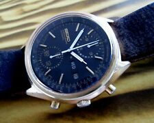 "Seiko ""Panda"" 6138-6200 Vintage Mechanical Automatic Men's Watch 6138B caliber"