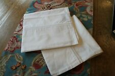 Restoration Hardware Satin Stitch Pillowcases, King, White (2)