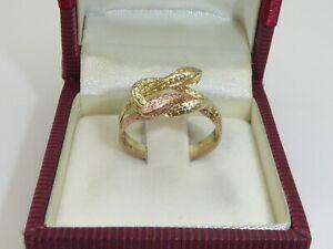 Ring 333 Gold Goldring Gelbgold Rotgold 3 g Schlangenring RG 57 - 18,1 mm 4263