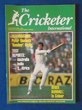 The Cricketer International Magazine - February 1984 - Martin Crowe Cover