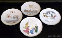 "4 pcs H & C SELB HEINRICH BAVARIA  4 Pictured Christmas Patterns 10"" Plates"