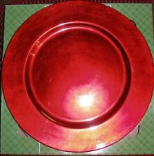 Plate Chargers Set of 4 Red Round Holiday Table Decoration NEW IN BOX
