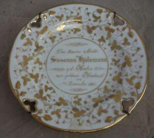 antiker Porzellan Teller Goldene Hochzeit Hülsmann 1861 #1