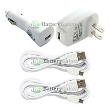 2 USB 6FT Micro Cord+Car+Wall Charger for Phone Samsung Galaxy S2 S3 S4 S5 S6 S7