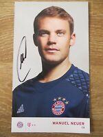 Handsignierte AK Autogrammkarte *MANUEL NEUER* FC Bayern München 16/17 2016/2017
