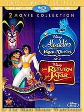 Disney Aladdin Sequel Double Feature 2 and 3 II & III Blu-ray DVD & Digital Copy