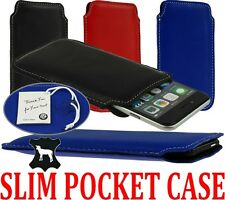 SLIM NICE GENUINE LAMB LEATHER POCKET CASE COVER SLEEVE POUCH FOR MOBILE PHONES