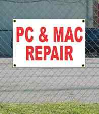 2x3 PC & MAC REPAIR Red & White Banner Sign NEW Discount Size & Price FREE SHIP