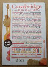 CAMBRIDGE FOLK FESTIVAL 2015 -   ORIGINAL MAGAZINE ADVERT 12 X 8 ins