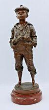 """Superb Antique """"Whistling Box"""" Bronze by V Szczeblewski - Polish 1889"""