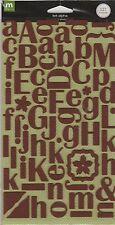 SCRAPBOOK ALPHA STICKERS   FELT / CHOCOLATE  BY MAKING MEMORIES
