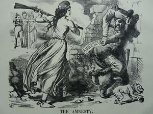 1863 Antique Victorian Print POLITICS - POLAND & RUSSIA - THE AMNESTY