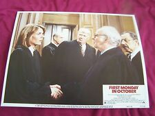 FIRST MONDAY IN OCTOBER-1981-LOBBY CARD #6 - COMEDY-JILL CLAYBURGH-WALTER MA VF