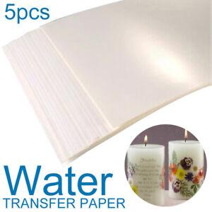 5 Pcs Water Slide Decal Film Din A4 Transparent Inkjet T-shirt