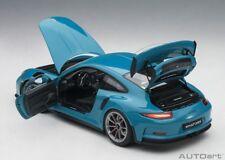 Autoart PORSCHE 911(991) GT3 RS MIAMI BLUE 2016 1/18 Scale New Release!