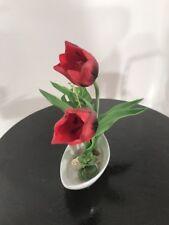 Tulpen im Topf Kunstblumen Neu Kunstpflanze Blume Tischdekoration Geschenk Deko