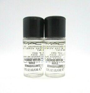 Lot/2 Mac Cleanse Off Oil Huile ~ 0.2 oz / 6 ml x 2