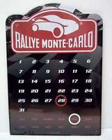 A4 Size Tinplate Rallye Monte Carlo Perpetual Calendar - good for all years
