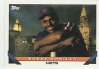 FREE SHIPPING-MINT-1993 Topps #52 Bobby Bonilla New York Mets Baseball Card