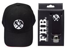FHB Set Dachdecker Zunft Hosenträger 120cm Echtlederrückenkreuz Clip+ Cap Mütze