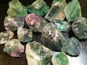 RAINBOW FLOURITE Rocks - 2 1/2 LB Lot - Gems Minerals Specimens - FREE SHIPPING
